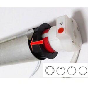 Автоматические рулонные шторы с электроприводом (проводное управление)6