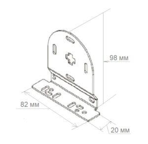 Размеры кронштейна 53 мм